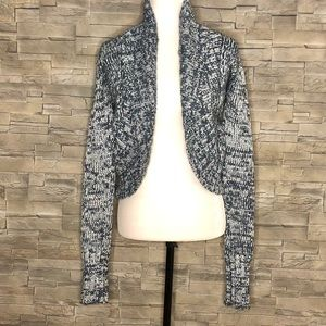 Juicy Couture teal and silver open cardigan